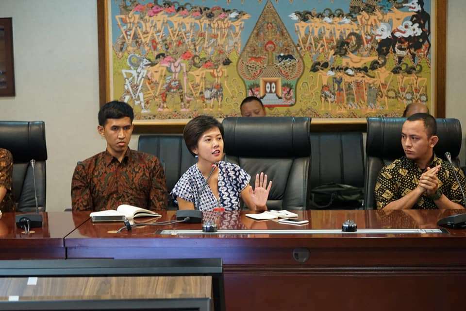 Koordinator Task Force Into The Light Indonesia, Venny Asyita, di Kantor Staf Presiden Republik Indonesia, Selasa (26/6).