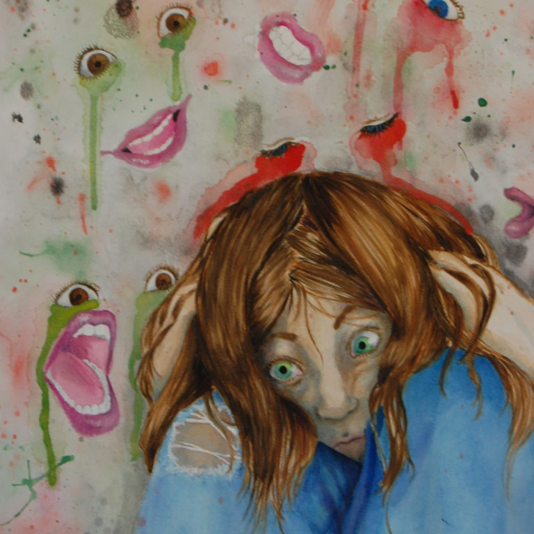 """Schizophrenia Painting"" by goodgirl94.deviantart.com"