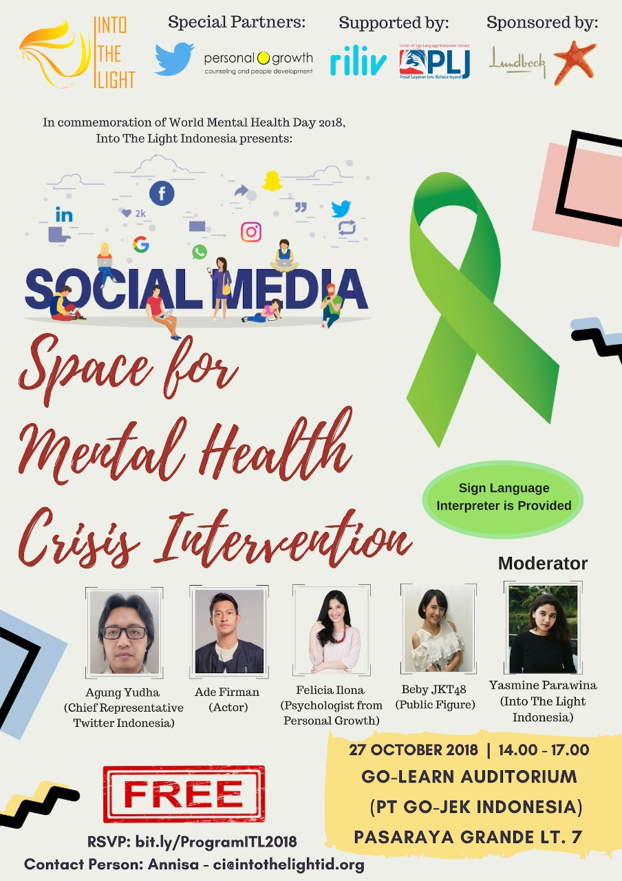WMHD 2018 Social media space for intervention